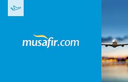 موقع مسافر Mussafir.com (للسفر والفنادق) بطاقة الهدايا الإلكترونية
